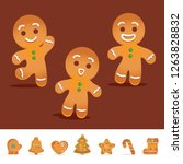 gingerbread and christmas... | Shutterstock .eps vector #1263828832