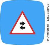 vector two way traffic crosses... | Shutterstock .eps vector #1263828928