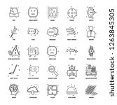 25 business concept mix line... | Shutterstock .eps vector #1263845305