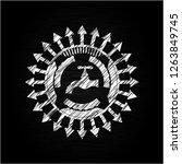 tap icon inside chalkboard... | Shutterstock .eps vector #1263849745