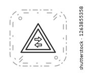 vector two way traffic crosses... | Shutterstock .eps vector #1263855358