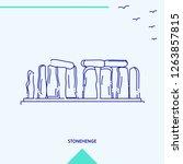 stonehenge skyline vector... | Shutterstock .eps vector #1263857815
