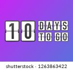 ten days to go. time icon.... | Shutterstock .eps vector #1263863422