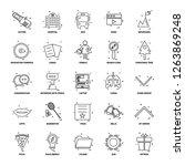 25 business concept mix line... | Shutterstock .eps vector #1263869248