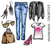 fashion | Shutterstock .eps vector #126387215