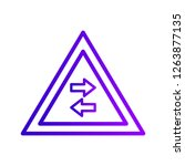 vector two way traffic crosses... | Shutterstock .eps vector #1263877135