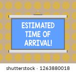 word writing text estimated... | Shutterstock . vector #1263880018