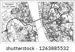 liverpool england city map in... | Shutterstock .eps vector #1263885532