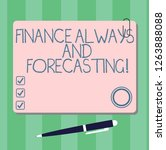 writing note showing finance... | Shutterstock . vector #1263888088