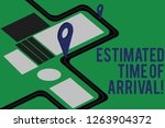 text sign showing estimated... | Shutterstock . vector #1263904372