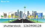 vector city of macau of the... | Shutterstock .eps vector #1263908128