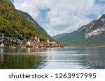 hallstatt town in austria with... | Shutterstock . vector #1263917995