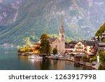 hallstatt town with its... | Shutterstock . vector #1263917998