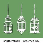 set of laser cut template of... | Shutterstock .eps vector #1263925432