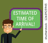 writing note showing estimated... | Shutterstock . vector #1263925945