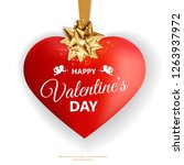 happy valentines day. realistic ... | Shutterstock .eps vector #1263937972