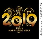 2019 happy new year banner with ...   Shutterstock . vector #1263952165