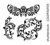 vintage baroque frame scroll...   Shutterstock .eps vector #1263956935