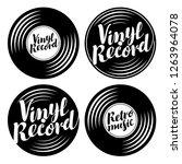 vector black and white set of... | Shutterstock .eps vector #1263964078