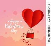 valentine's day vector design | Shutterstock .eps vector #1263985048