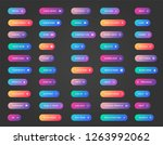 web buttons collection. ui  web ... | Shutterstock .eps vector #1263992062