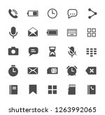 smartphone functions web icons. ...