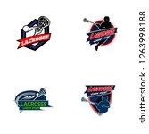 lacrosse sport badge logo design | Shutterstock .eps vector #1263998188