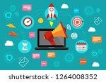 digital marketing. concept of...   Shutterstock . vector #1264008352