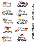 merry christmas. typography set.... | Shutterstock .eps vector #1264017652