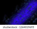 illustration blue falling... | Shutterstock . vector #1264019695