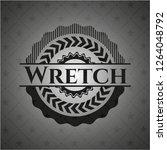 wretch dark badge | Shutterstock .eps vector #1264048792