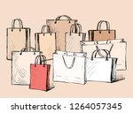 vector illustration of various... | Shutterstock .eps vector #1264057345