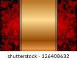vector gold background with red ... | Shutterstock .eps vector #126408632