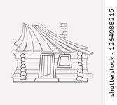 small hut icon line element.... | Shutterstock .eps vector #1264088215