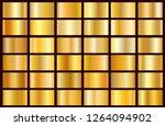 realistic gold gradient texture ... | Shutterstock .eps vector #1264094902