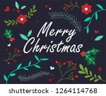 christmas greeting card with... | Shutterstock .eps vector #1264114768