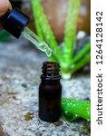 organic aloe vera cosmetics oil ... | Shutterstock . vector #1264128142