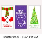 merry christmas and happy new... | Shutterstock .eps vector #1264145965
