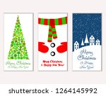 merry christmas and happy new... | Shutterstock .eps vector #1264145992