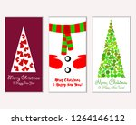 merry christmas and happy new... | Shutterstock .eps vector #1264146112