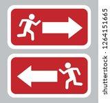 emergency exit board | Shutterstock .eps vector #1264151665