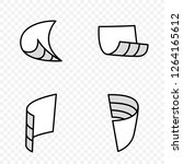 folded paper sheets and... | Shutterstock .eps vector #1264165612