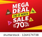 sale and special offer tag ... | Shutterstock .eps vector #1264174738