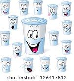 dairy product in plastic cup  ...