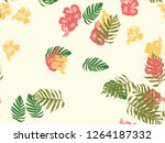 tropical background. green ... | Shutterstock .eps vector #1264187332