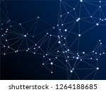 block chain global network... | Shutterstock .eps vector #1264188685