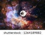 spacecraft launch into space.... | Shutterstock . vector #1264189882