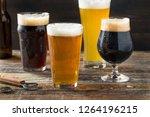 refreshing cold craft beer... | Shutterstock . vector #1264196215