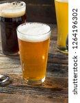refreshing cold craft beer... | Shutterstock . vector #1264196302