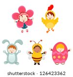 easter kids with costumes